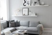 | Interior • Living Room | / Minimalistic Living Room Inspiration, Living Room Elegant, Living Room grey, Living Room White, fall decor ideas for the home, 2017, living rooms, simple, autumn, center pieces, interior inspiration