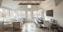 At Home + Nantucket Looms / Nantucket homes designed by Nantucket Looms design team. Interior design inspiration. Home styling and staging to sell.