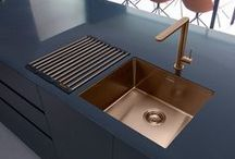 Copper Kitchen Sinks & Taps / Kitchen sinks and taps in copper from Abode, Caple, Blanco and Bluci. Copper Tap, Copper Sink, Single Lever Copper Tap, Twin Lever Copper Tap