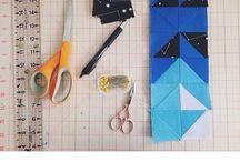 quilting | half square triangle / by Brooke Biette