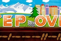 """Free iPhone Game """"Step Over"""" / Don't let the bombs, falling coconuts, aliens or lightless paths get you down for they really spice up your maneuvers."""