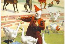 Circus & Funfair / Circus,Cirque du Soleil, Big Top, Clowns.  Beautiful, sad and creepy & all the fun of the fair!