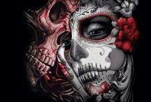 Sugar skulls / Dia de los Muertos | sugar skulls | day of the dead | Art | Make-up | Tattoos