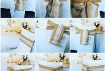 Le noeud de chaise en toile de jute avec dentelle : parfait pour les déco champêtre, vintage, bohème