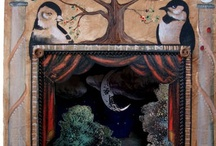 Toy theatre and shadow puppets