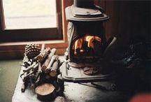 Hugs by the winter fire