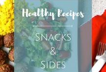 Snacks and Sides / Complete your meal with a generous helping of mouth-watering healthy side dishes! Here are some recipes for inspiration. You can also find some healthy snack ideas here so you can grab a guilt-free bite whenever you're having a snack attack.