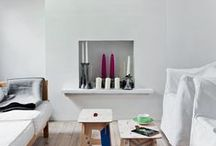 White themed spaces / Beautiful white and simple spaces