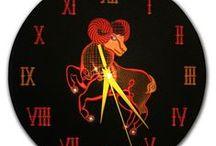 zodiak / Art zodiac, Capricorn, Scorpio, Taurus, Gemini, Leo, Aries, Pisces, Virgo, Cancer, Sagittarius, Aquarius, Libra Clock with zodiac signs