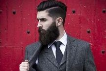Suits & Beards / 2015's trendiest looks in men's fashion is an overgrown hipster beard with a polished suit and tie.