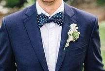 Blue Bowties / Classic look for summer weddings: we LOVE the blue bowtie. Preppy, classy and a little boyish charm all wrapped up into one pretty bow.