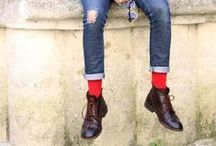Red Socks / Funky, Quirky Socks that add personality to any outfit. <3 Red socks!