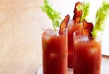 Bloody Mary & Ceasars / These cocktails are great at brunch, but we drink them all day long!