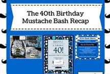 Mustache Bash Birthday Party / This is all the details for a DIY mustache bash themed party, including food suggestions, cookies, favors and invitations. This party was for a 40th birthday party but could be adapted for your baby boy, baby shower or home decor.