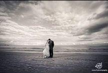 Wedding Photos on the beach / Weddings or wedding photo session on the beach.  Photos taken by H photography