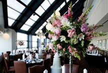 Congrats Mr. & Mrs. Horvath / A beautiful wedding in Indianapolis, IN. The reception was held at the Skyline Club. The flowers included shades of pinks with touches of purple and green. All Floral Designs by McNamara Florist. Photography by Nathaniel Edmunds Photography.