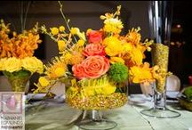 Congrats Toomie & Michael / Owner of McNamara Florist, Toomie Farris, get's married surrounded by yellow and orange floral arrangements and decor! VENUE: Columbia Club/Home FLORIST: McNamara Florist PHOTOGRAPHER: Nathaniel Edmunds