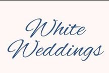 White Weddings / McNamara Weddings using White as a primary color. Simple, Classic and Elegant.