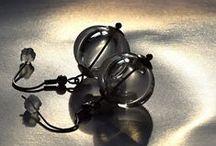 Greya lampwork bubbles / lampwork beads - bubbles