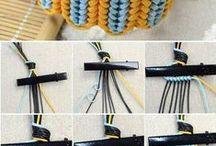 knytting-armbånd og knuter