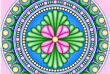 Coloring for adults: Mandala
