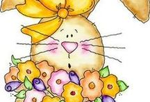 Coloring for adults: Easter