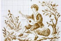 Cross stitch: Monochrome
