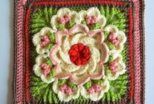 Crochet: Rosettes and Sqare