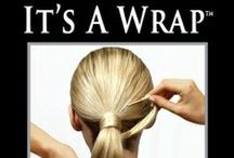 """Natural Hair Wrap / You can use """"It's a Wrap"""" styling tool to create many unique and stylish looks. Even the Ponytail will look very sophisticated! Here are the inspirations how to create your perfect hair."""