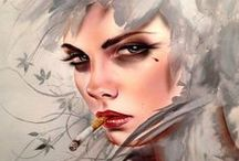 Fantasy and Cyberpunk Babes / #Cyberpunk, #Steampunk, #Sci-fi, #Fantasy, #Manga, #Steamgirls, #Tattoo, #Digital Art, #Cosplay