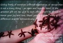 Giving Back - CuddleCube.com and The Gifted Giver / Giving freely of ourselves without expectation or recognition is not a scary thing - an open and humble heart IS the greatest gift we can give to each other. Don't be afraid to honor your joy and love. Share your gratitude, make a difference and BE extraordinary! Trish Norman-Figueiredo