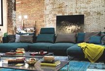 Rolf Benz – turquoise brick / Welcome to the new form of elegance. It's what Rolf Benz is all about.