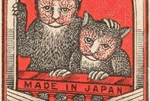 Cats in Vintage advertising / Vintage ephemera and cats