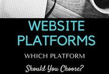 Website Platforms / Website Platforms is a smorgasbord of resources related to the most popular website platforms available. It's aim is to help people to understand their differences so that an informed decision can be made. WordPress, Squarespace, Wix, Weebly