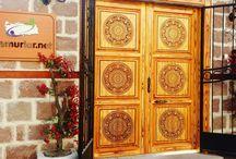 Sedef ahşap kapı / Ahşap kapı cnc modelleri