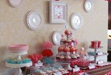 Party Ideas / We love throwing parties because there is so much to celebrate in life! We like to create as much of our decorations and cater our own events when we can. Who says you can't throw a beautiful party on a budget?