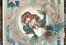 LOTV - Mermaids / You are very welcome to repin any of the cards on our boards. Please do not repin any plain LOTV stamped images you may come across that do not have a watermark as it breaches our copyright. many thanks x / by Lili of the Valley Ltd
