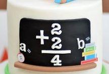 škola - school cake