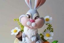 velkonočne - rabbit cake