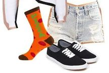 Yum! / Do you like good food and drink? Well, here are some socks that represent some of your favorites.