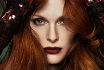 Red Hair Colour Ideas / Beautiful women with red hair. Inspiration for hair dyeing.