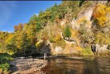 River Alness - Novar Beat 4 / Pools and salmon anglers fishing on Beat 4 of the Novar Fishings, River Alness, Scotland.