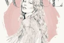 Natalie Lines Illustration / A collection of my delicate pencil illustrations with pastel accent colours