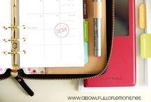Organization for mum: planner / Tutto ció che serve per tenersi organizzate, organizzare e organizzazzione!