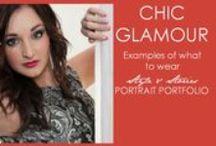 STYLE & STORIES - Chic Glamour Wardrobe Ideas / Chic Glamour Wardrobe Ideas for a Style & Stories Portrait Portfolio shoot / by Martin Van Niekerk Photography
