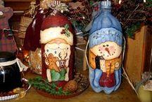 MANUALIDADES NAVIDAD / Adornos de navidad, arbolitos, muñecos de nieve, papanoles, bolas de navidad, angeles...etc...etc