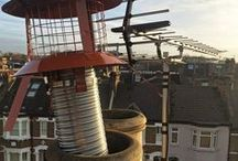 Chimney pots and cowls / A collection of chimney pots, pot hangers and cowls from the wood burning stove installs by Stoake Ltd