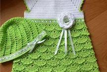 vestidos a crochet niñas