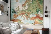 MAPS / Let's get busy with maps. Spread them around for a travel vibe.