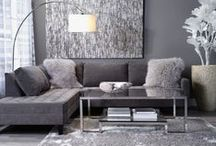 "GREY / Sick of ""beige""? Try fog and charcoal greys for a classic, clean look that goes with anything. These pins will show you how to experiment with these tones.  / by Z Gallerie"